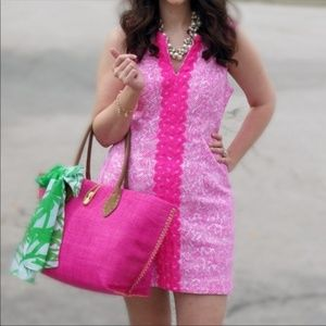 Lilly Pulitzer Plus Size Dress Shift Hot Pink